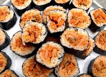 Gopher loves Kimchi - and Rice - Kimchi Gimbap