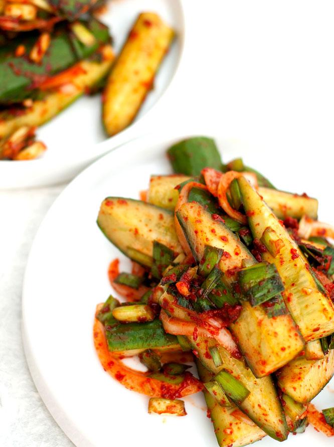 Easy Cucumber Kimchi Recipe