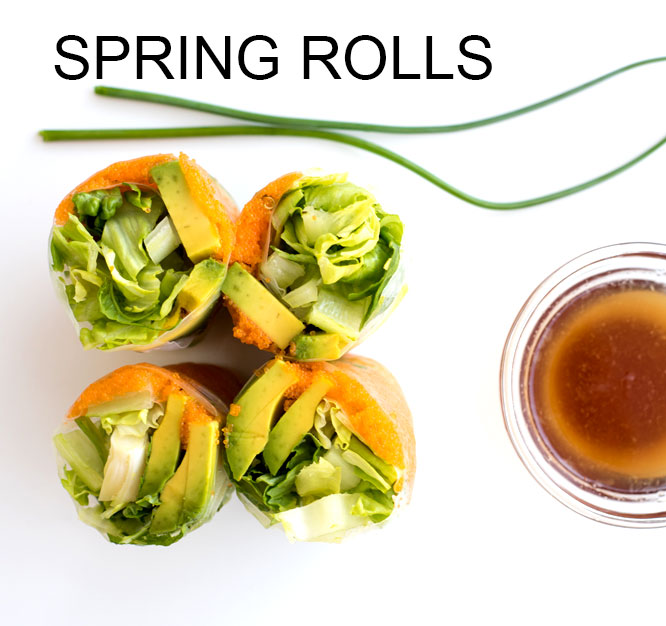 Spring Rolls Recipe with Masago