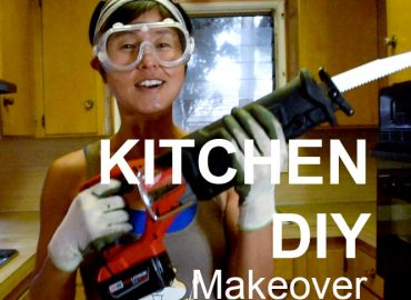 Kitchen DIY makeover-A Woman With A Chainsaw