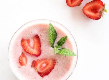 Chunky Strawberry Coconut Milk Recipe